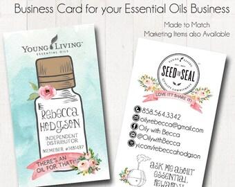 Essential Oils Business Cards, Oily Rep Card, Business Card Design 2, Business Card Template, Business Card, Custom Busienss Card