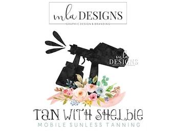Spray Tan Logo, Premade Logo, Watercolor Logo, Spray Tan Logo, Mobile Tanning Logo Designs, Sunless Tan Logo, Custom Logo Design, Boutique