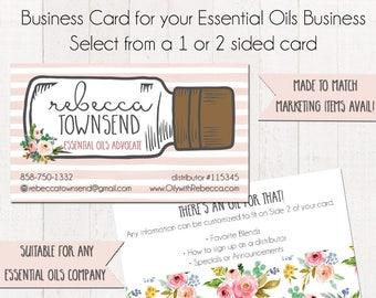 Essential Oils Cards, Oily Rep Card, Business Card Design 2, Business Card Template, Business Card, Custom Business Card, Essential Oils