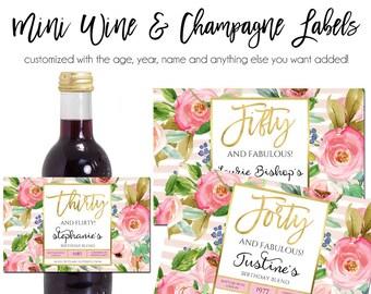 Wine  Champagne Label, Mini Custom Wine Label, Printable Wine Label, Mini Wine Label, Mini Champagne Label, Small Wine Label