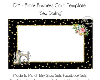Sewing Business Card Template - Sewing Business Card, Embroidery Business Card, Sewing Logo, Business Card, Hang Tag Seamstress, Template