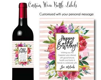 Wine Label, Custom Logo Wine Label, Liqour Label, Printable Wine Label, Wine Label,Birthday WIne Label, Birthday Champagne Label