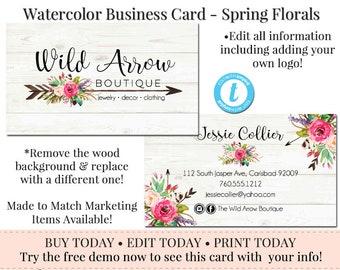 arrow business cards etsy