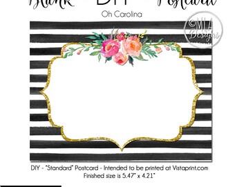 BRICOLAGE Vistaprint Standard Format Carte Postale Oh Carolina Modle Vierge Le Tlchargement Immdiat