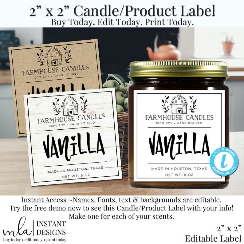 graphic relating to Jar of Nothing Printable Label Free identified as 2 Inch Sq. Labels, Candle Labels, Solution Labels, Editable Labels, Do it yourself Candle Labels, Editbale Substance Labels, Do it yourself labels, Substance Label