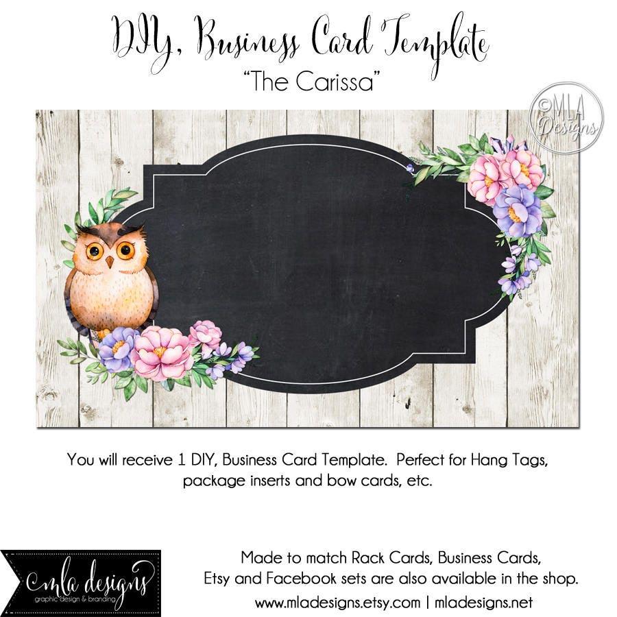 Owl business card template the carissa owl template etsy zoom colourmoves