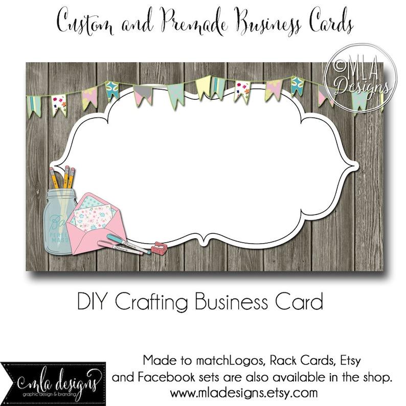 Set Of Beauty Logo Template: Craft Business Card Template Crafting Business Card Made