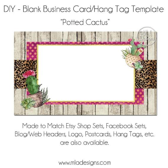 Carte De Visite Cactus Bricolage Blanc Business
