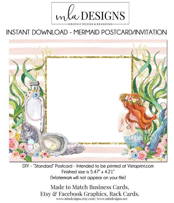 Carte Postale Sirne Bricolage Vistaprint Standard Taille