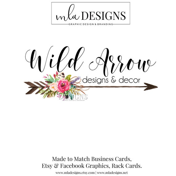 Arrow Logo Flower Rustic Floral