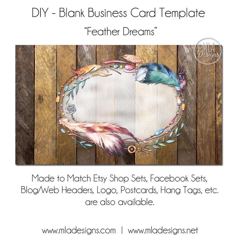 DIY Blanc Business Carte Modele Reves De Plume