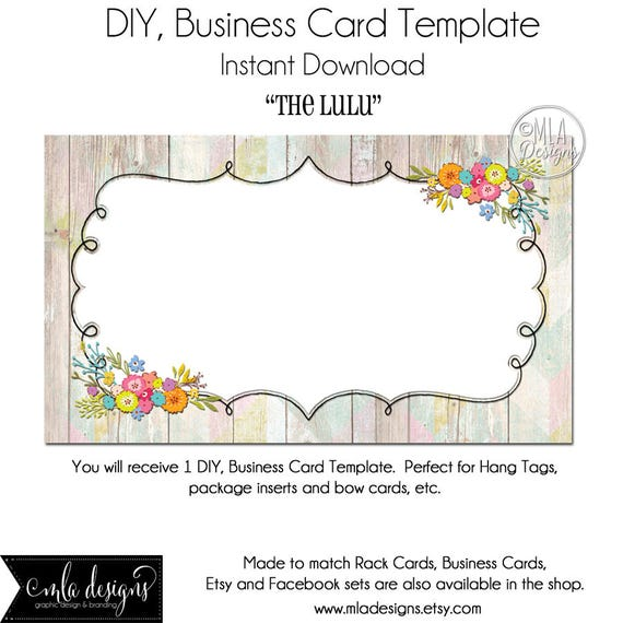 Pack Of 20 Predesigned Floral Border Hair Bow Display Cards