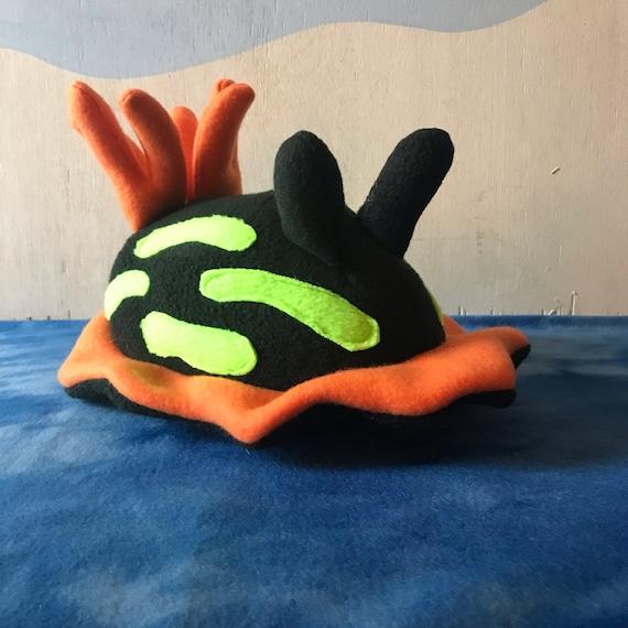 Petite Limace De Mer Peluche Nudibranche Noir Noir Et La Etsy