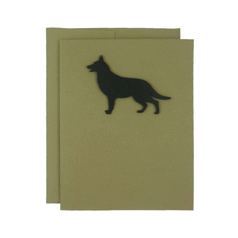 Blank German Shepherd Dog Cards Blank Note Cards German Etsy