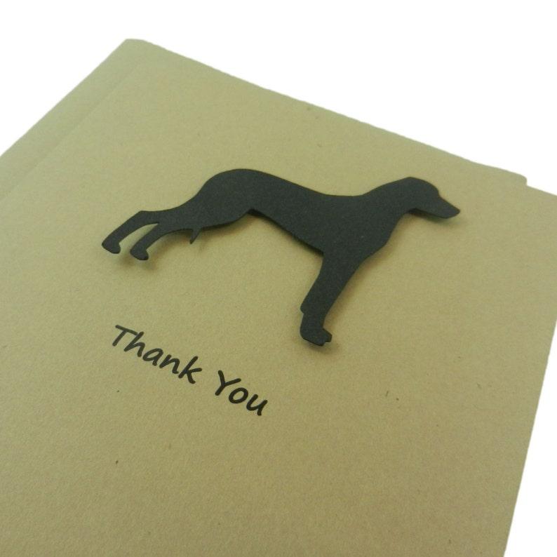 Rhodesian Ridgeback Dog Thank You Card Single Card or 10 Pack Dog Thank You Cards Dog Lover Gift Dog Greeting Cards Thank You Notes Custom