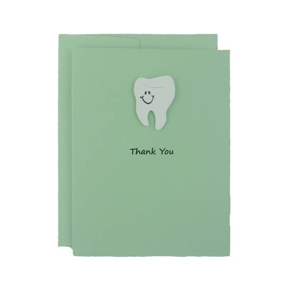 Pastel green tooth card thank you card teeth dentistry etsy image 0 m4hsunfo