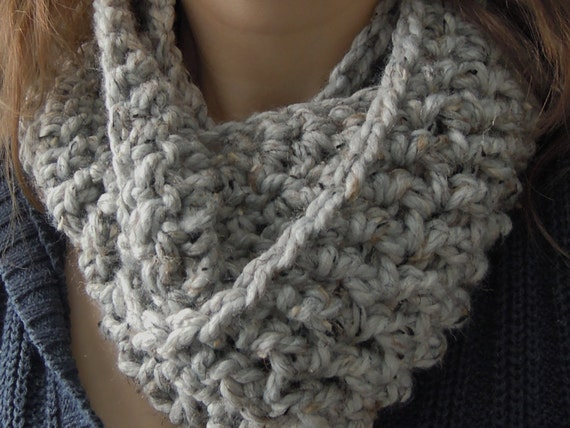 Easy Chunky One Skein Infinity Scarf Crochet Pattern Etsy