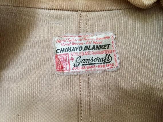 Ganscraft 40's Chimayo Jacket Vintage Woven Wool … - image 6