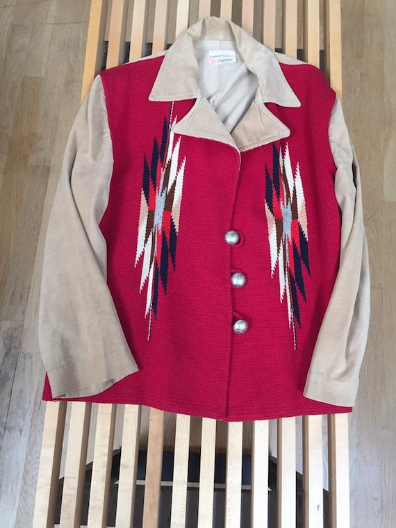 Ganscraft 40's Chimayo Jacket Vintage Woven Wool C