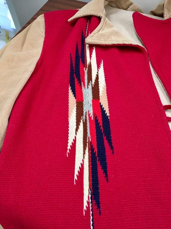 Ganscraft 40's Chimayo Jacket Vintage Woven Wool … - image 2