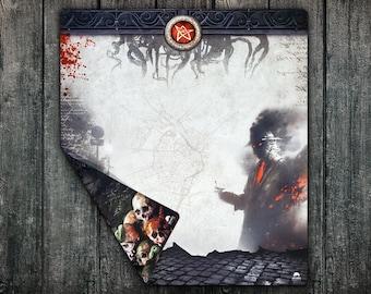 Arkham Horror LCG Playmat, Large Double-Sided Player Mat for Arkham Horror Streets of Arkham - Nameless City