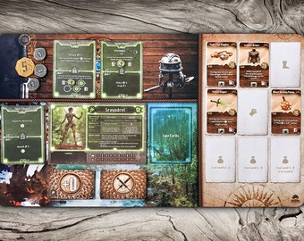 Gloomhaven Frosthaven Jaws of the Lion Playmat, GH JOTL FH Player Mat Character Board