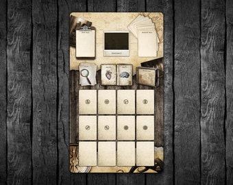 Vertical 14x24 Arkham Investigator Dashboard Playmat