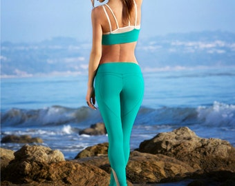 6150133bf0a89 SALE - Emerald Green Yoga Legging - Heart Butt™ Yoga Pant - Compression  Jersey - Womens Activewear - Workout Leggings - B001