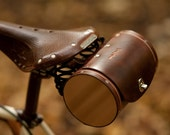 """Bicycle Saddle Bag - """"The Barrel Bag"""" Bicycle Bag - Leather Bicycle Accessories"""