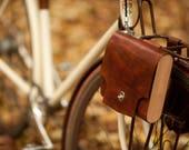 """Bicycle Pannier Bag - The """"Pocket Pannier"""" - Leather Bike Panniers"""