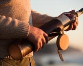 Leather Bottle Holder - The Whiskey Case or Wine Holder - Gift for Whiskey Lovers and Wine Lovers