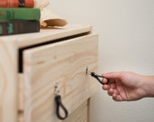"Leather Drawer Pull - The ""Burnside (Small)"" - Leather Cabinet Door Knobs and Drawer Handles"