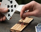 Travel Cribbage Board - Monograms Available - Personalized Cribbage Board - Travel Game, Travel Gift