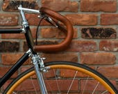 "Sew-on Leather Bicycle Handlebar Wraps - The ""Sew-on Bar Wraps"" - Leather Handlebar Tape"
