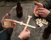 Travel Dominoes - Lightweight Wood Mini Dominoes - Pocket Domino Set