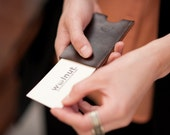 Leather Business Card Case - Wood Business Card Holder