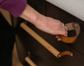 """Leather Drawer Pull - The """"Fremont"""" - Handcrafted Leather Drawer Pulls and Cabinet Knobs"""