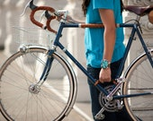 """Bicycle Frame Handle - The """"Little Lifter"""" - Leather Bike Handle - Bicycle Accessories"""