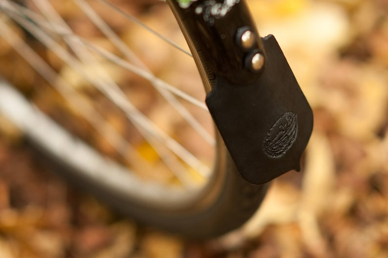 Leather Mud Flaps for Bicycle Fenders image 0
