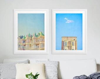Urban Photography San Francisco // Large Scale Art Prints // Set of Two Art Prints San Francisco Street Photography // Oversize Office Decor