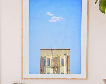 """Large Scale San Franciso Art Print // San Francisco Photography // Office Decor Print // San Francisco Architecture Prints // """"Lonely Skies"""""""