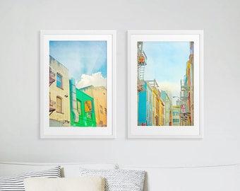 San Francisco Art Prints // Urban Photography San Francisco, CA // Colorful Street Photography Collection // Set of TWO Art Prints