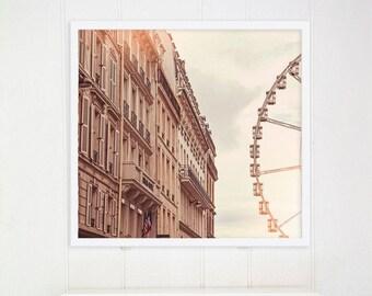 """Paris Bedroom Decor Photography // Paris Prints // Paris Architecture // Travel Photography // Europe  - """"Paris Ferris Wheel"""""""""""