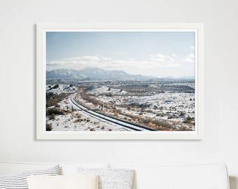 "Landscape Photography Fine Art Print // New Mexico Desert // Desert Photography // Desert Print // Large Scale Print - ""New Mexico Winter"""