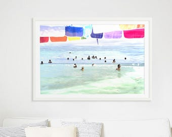 """Abstract Art Photography // """"Things we do for love"""" // Beach Photography // Rainbow Print // Beach People California // Beach Collage V"""