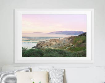 Large Landscape Photography // Ocean Beach Large Print // Nature Photography // Sunset Beach Print // California, San Francisco Sutro Baths