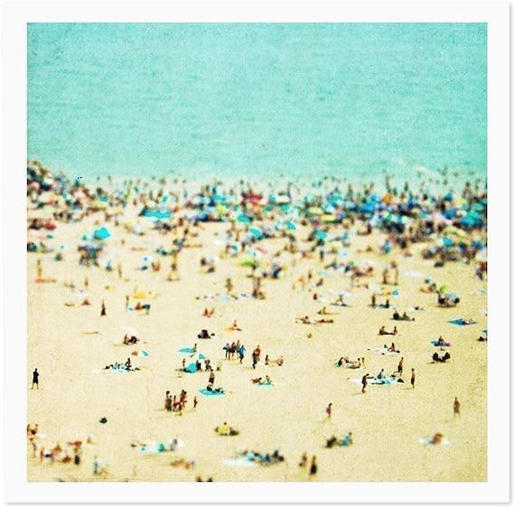 Large Beach Photography // Large Wall Art // Aerial beach