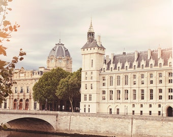 """Paris Photography // Paris Prints // Paris Architecture // Travel Photography // Square Format Prints // Europe  - """"Paris Seine 2"""""""
