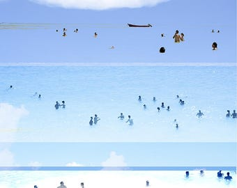 """Abstract Art Photography // """"Revisited"""" // Beach Photography // Rainbow Print // Beach People California // Beach Collage V"""