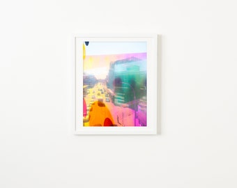 Colorful NYC Street Photography // Large Scale Wall Art Prints // New York City Street Photography // New York Commute